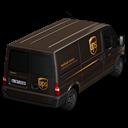UPS Van Back Emoticon
