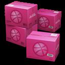 Dribbble Shipping Box Emoticon