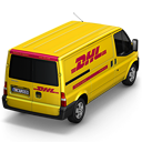 DHL Van Back Emoticon