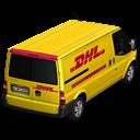 DHL Van Back Emoticon