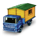 Truck With Site Office Emoticon