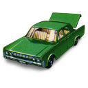 Lincoln Continental With Open Boot Emoticon
