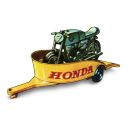 Honda Motorcycle With Trailer Emoticon