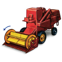 Combine Harvester With Movement Emoticon