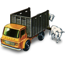 Cattle Truck With Cattle Emoticon