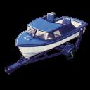 Boat And Trailer Emoticon